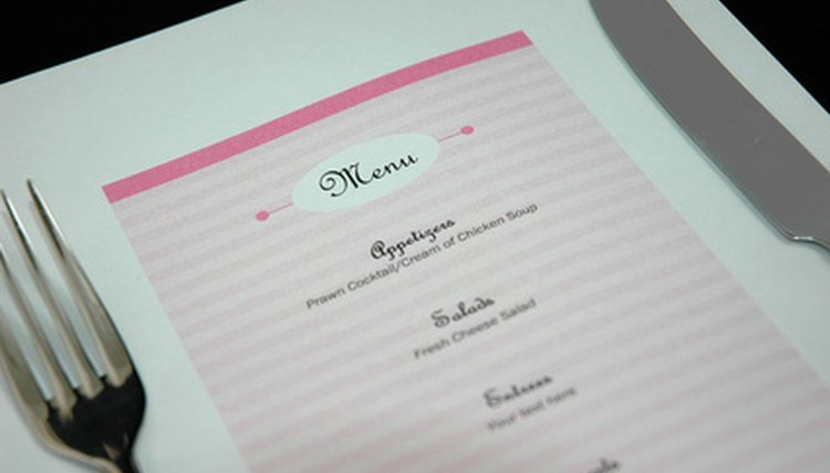 A menu can either surprise or disappoint a guest.