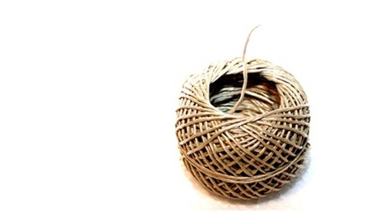 A ball of natural 20 lb hemp twine.