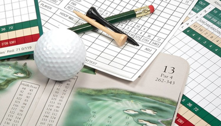Scorecards are useful in tracking scores of multiple players during the round.