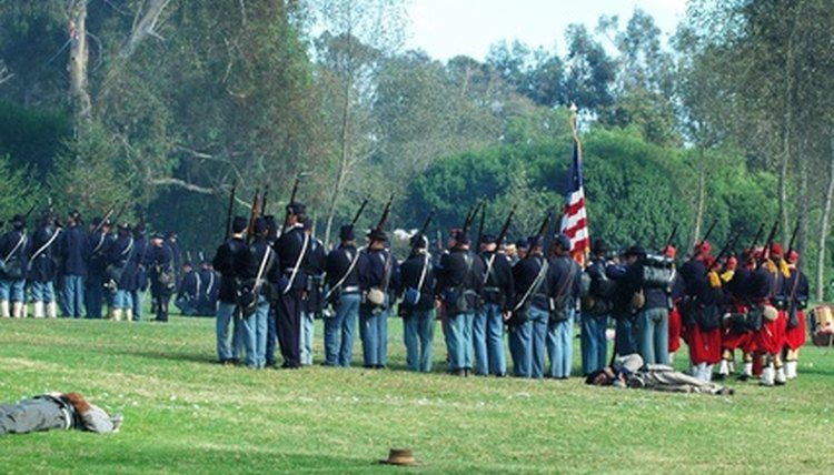 Bayonets were attached to guns during the Civil War.