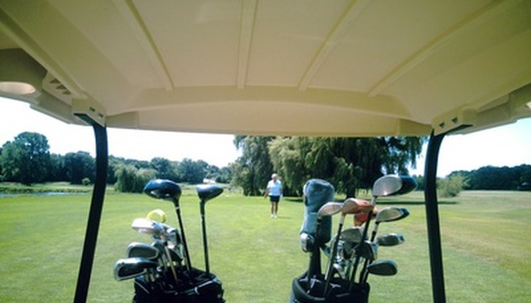 A pair of players sharing a cart can compete fairly through the use of handicap.