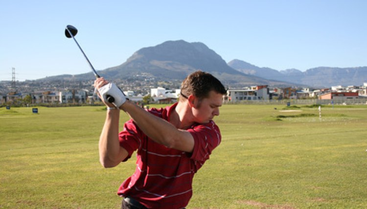 The golf swing places pressure on the upper back.
