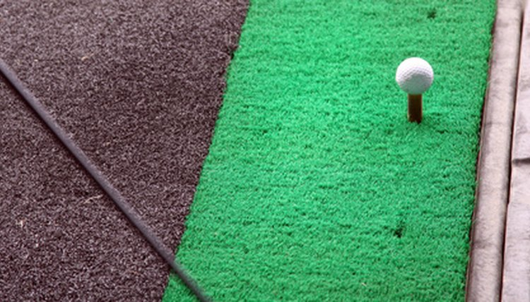 Golf mats have become a popular substitute for grass.