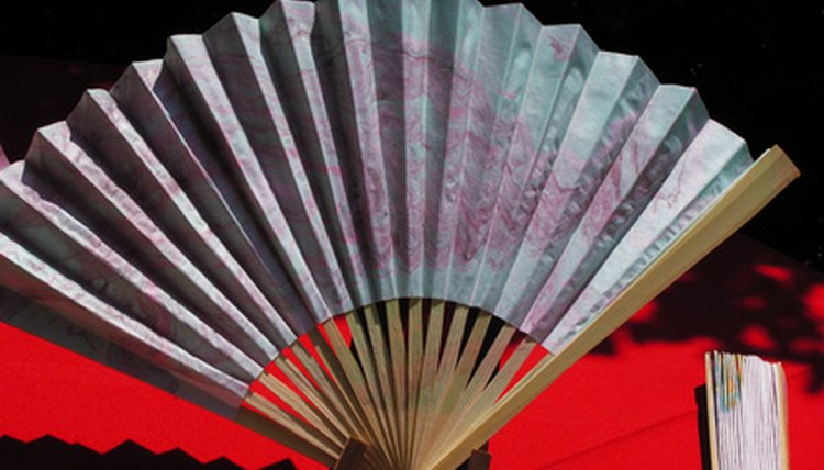 In Japanese culture, fan paintings are symbolic.