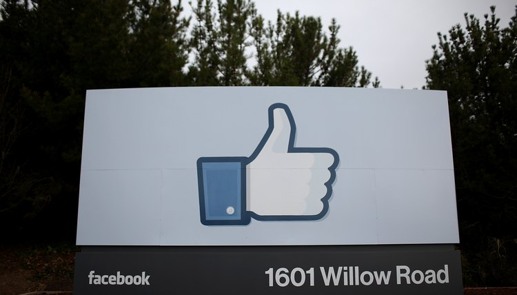 Facebook's headquarters sports the like symbol on its sign.