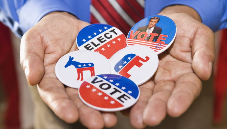 American political parties organize voters, engage in fundraising and promote candidates.