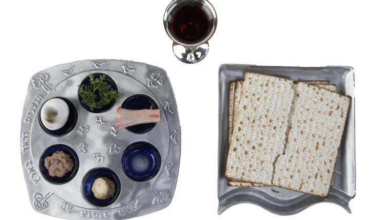 The Seder uses foods and wine to tell the Passover story.