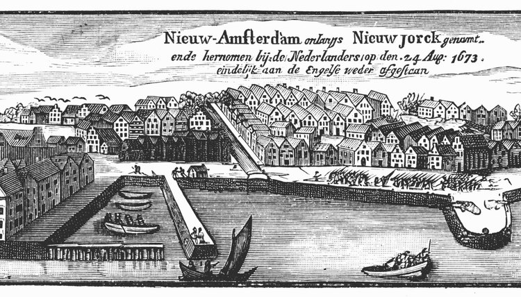 Dutch settlement spread north and west from New Amsterdam, present-day Manhattan.