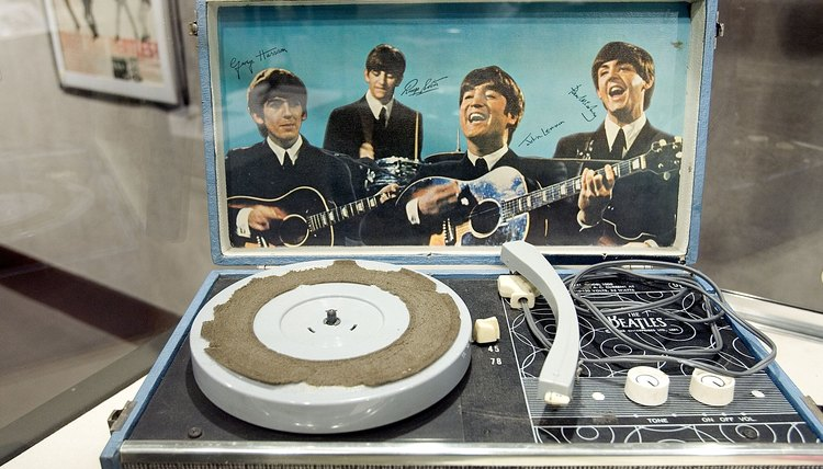 a Place&quot, vintage Beatles albums, other memorabilia, this record player