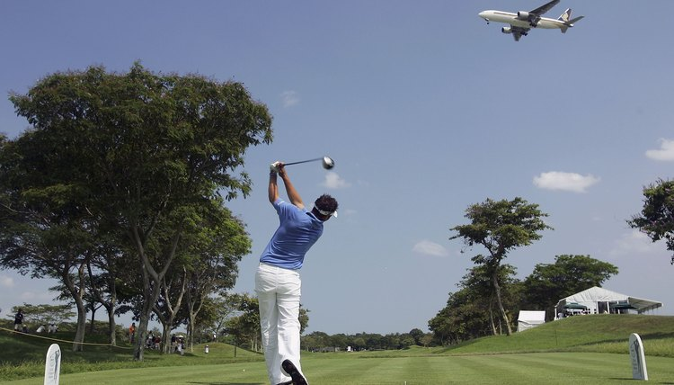 Although this is an actual shot taken during a recent Singapore Masters, you might find it more useful to have your local pro evaluate your swing plane!