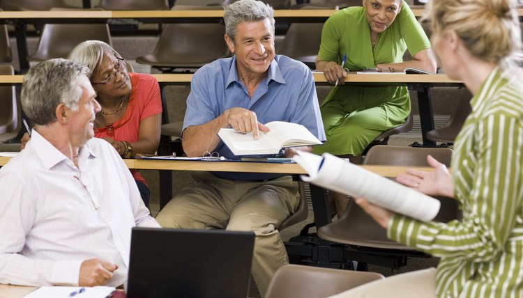 Some colleges offer programs specifically for the working adult.