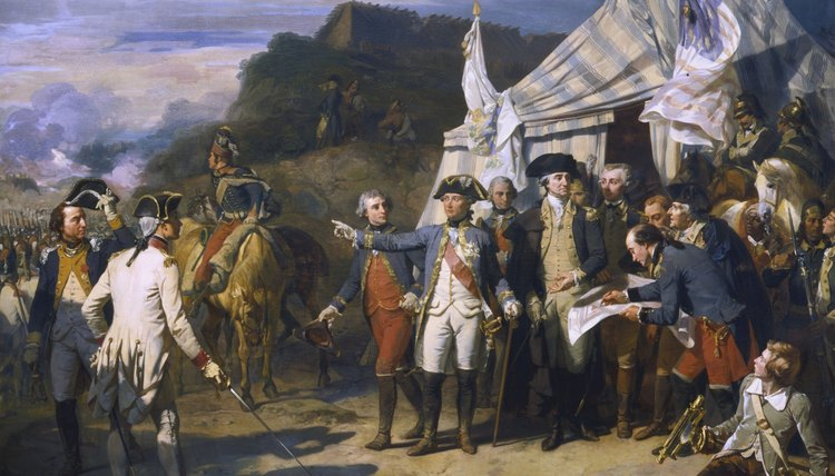 The Colonists, aided by the French, overcame the British at Yorktown.