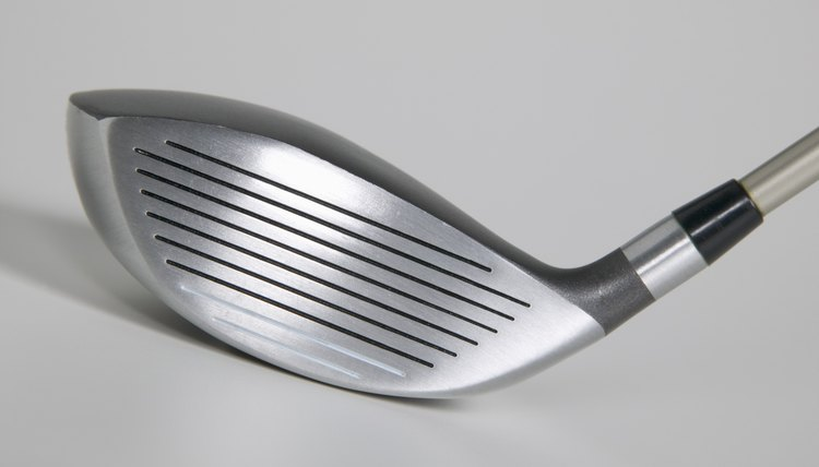 The black ferrule, at the end of the shaft, is a standard golf club component.