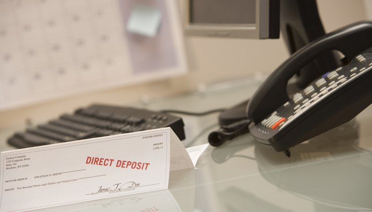 Direct deposit eliminates a trip to the bank.