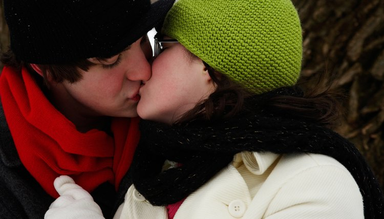 Make the first kiss memorable in an unexpected place or way.
