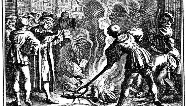 Luther burned the papal bull and looked for reform outside the papacy.