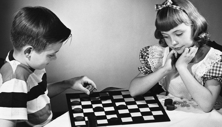 Simple games could entertain children for hours in the 1950s.