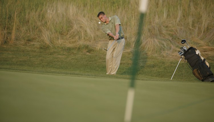 Control of the ball with your chips will put you in position to have short putts on the green.