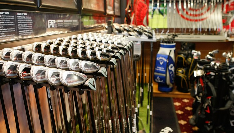 Finding the right irons requires trial and error at the golf store.