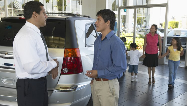 Negotiate with a car dealer to try to reduce your finance charges.