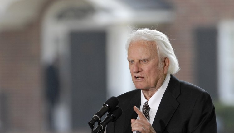 Billy Graham is the most recognized evangelist in modern times.