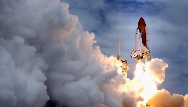 Space shuttle Atlantis blasts off from a launch pad at Kennedy Space Center July 8, 2011 in Cape Canaveral, Florida.