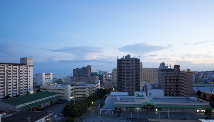 Okinawa has been rebuilt extensively since the war.