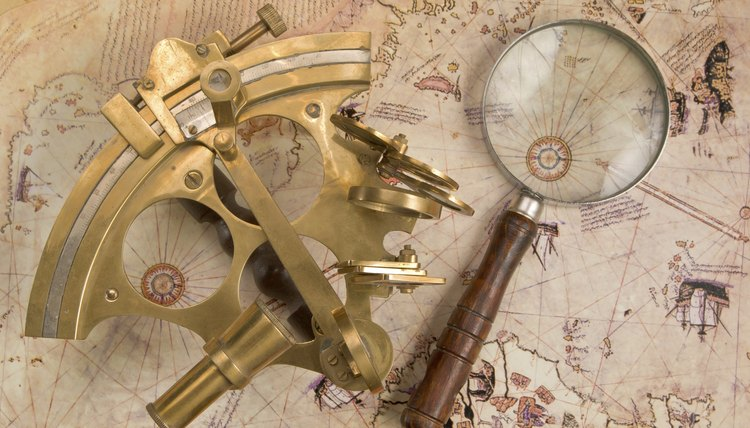 An overhead view of navigation tools.