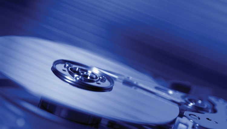 Mechanical hard drives use physical disks to store and recall data.