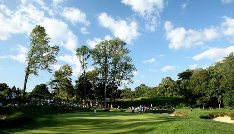 The 17th green at Merion Golf Club, where Bobby Jones won the U.S. Open in 1929.