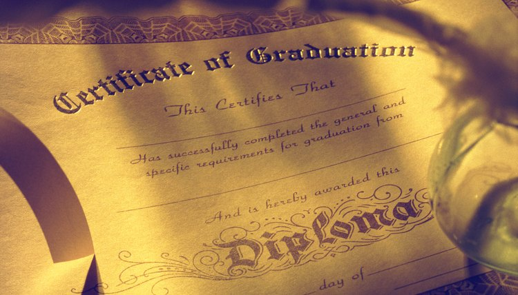 Official diploma take time to replace.