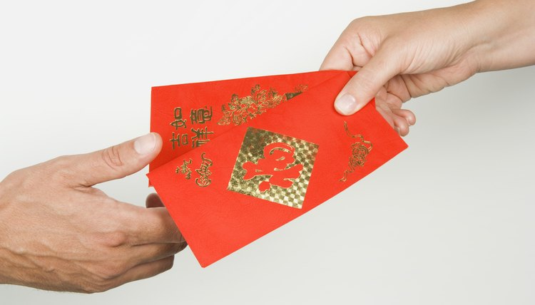 Children often receive money as part of Chinese New Year celebrations.