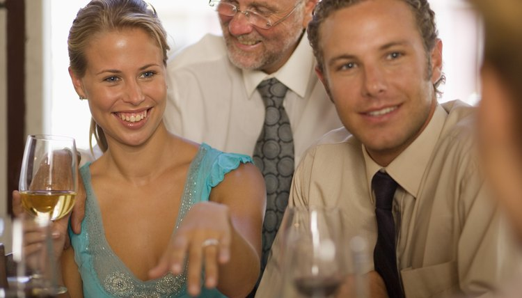 Engagement parties are a way to introduce the couple to friends and family.