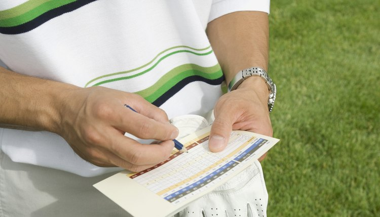 The scorecard lists the handicap number of each hole.
