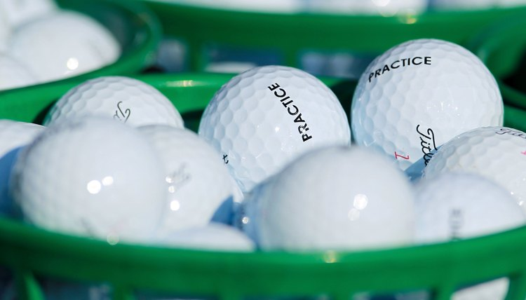 A golf ball is made up of rubber and various composite materials.