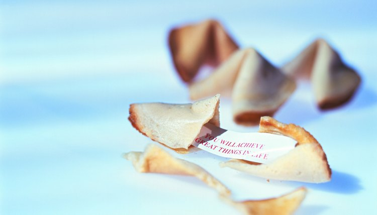 Hiding a note in a fortune cookie is an unexpected communication.