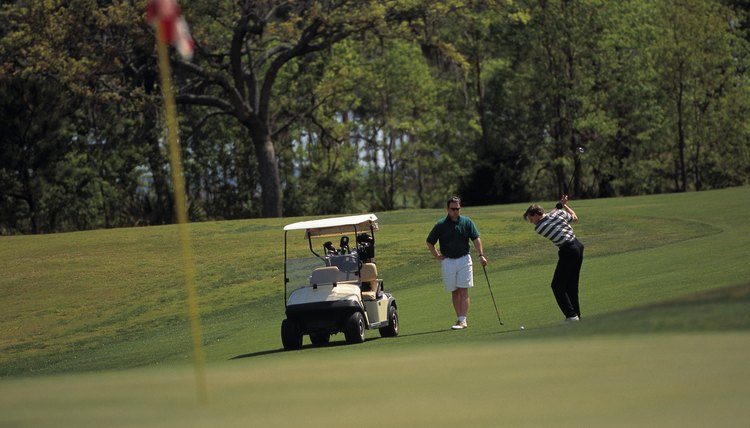 A two-person scramble event sometimes uses handicaps.