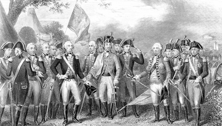 War's end: The British surrender at Yorktown, Virginia, was in 1781.