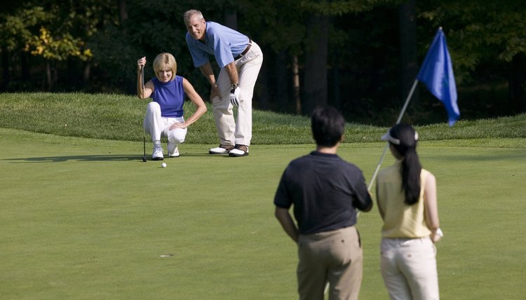 There is no substitute for experience and practice when it comes to properly reading greens.