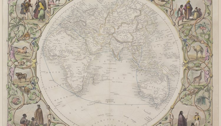 This map represents the known world before Columbus' exploration.