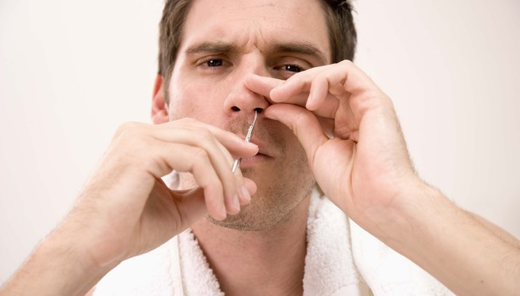 Small amounts of nose hair help keep germs at bay.