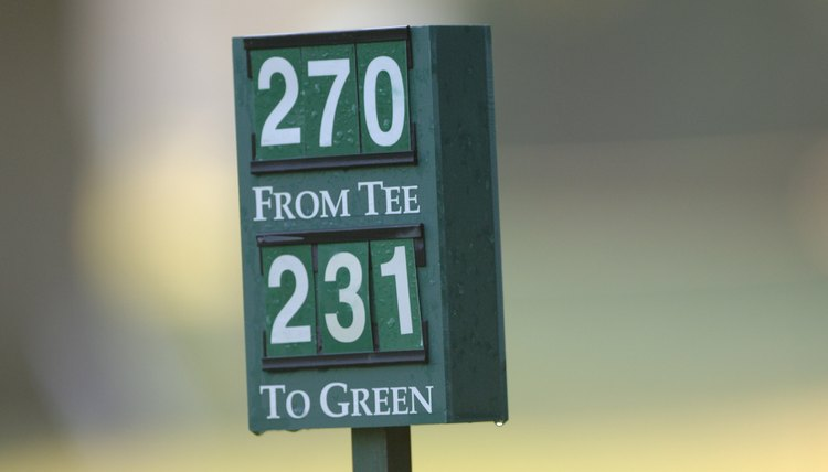 Yardage markers can help you choose the right club.
