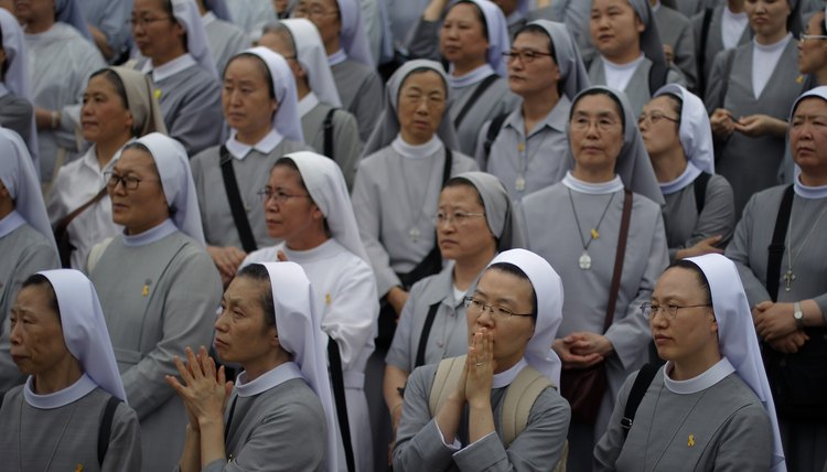 A group of nuns.