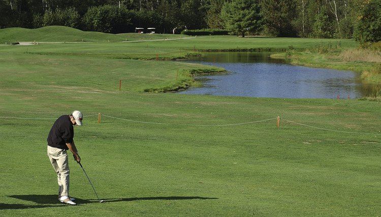 Golf courses require anywhere from 100 to 200 acres of land for an 18 hole championship course.