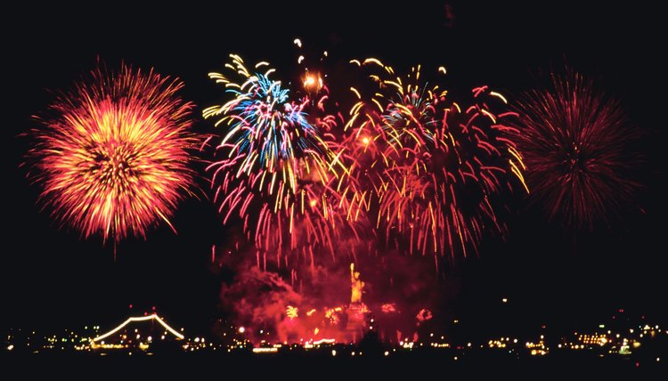 Fireworks displays are a popular way to ring in the new year.