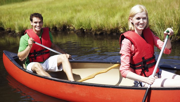 Rent a canoe and take your date rowing on the lake.