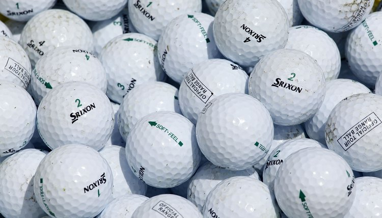 Golf balls have evolved from the days of old featheries.
