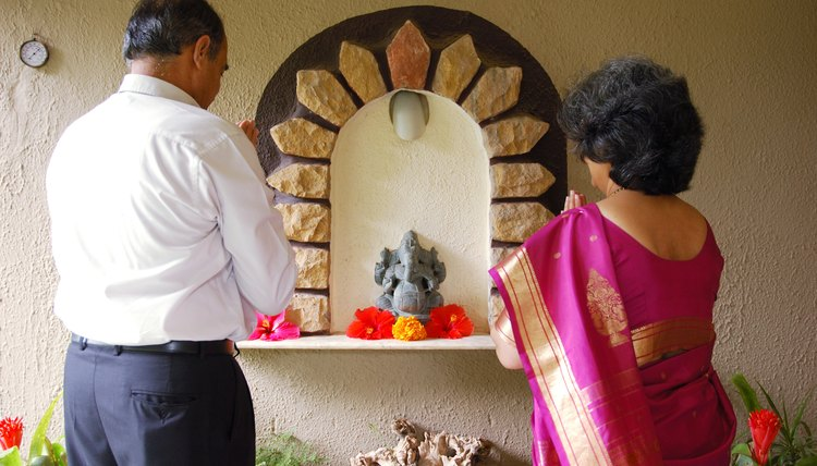 Many Hindus have a shrine in their home where prayers can be offered.