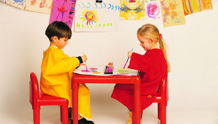 Get painting with your preschooler.