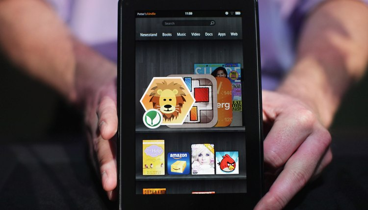 Open apps from your carousel on the Kindle Fire.